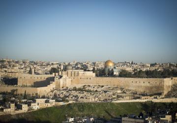 Vue sur Jérusalem, de la Maison d'Abraham du Secours Catholique-Caritas France