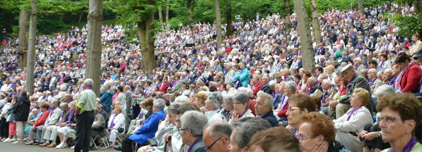 célébration des AFN à la cathédrale de verdure en juin 2014 à la Cité Saint-Pierre à Lourdes