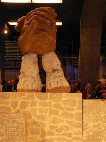 Œuvre finale du rassemblement Diaconia qui a eu lieu à Lourdes en mai 2013, et qui a été en partie accueilli à la Cité Saint-Pierre