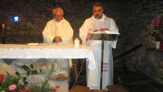 Youssef Soueif célébrant à la chapelle Sainte Bernadette.